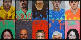 Short Tall Color,portraits contemporary painting by artist David Larson Evans
