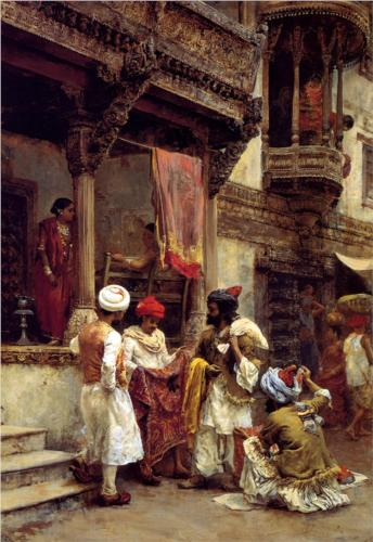 Verifying the merchandise, not the seller: 'The Silk Merchants' by Edwin Lord Weeks (circa 1883)
